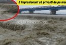 ULTIMA ORĂ! VIDEO. Buzăul înspăimântător la podul de la Mărăcineni