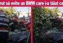 Autoturism oprit într-o casă. Șoferul nevinovat are picioarele rupte. Eforturi pentru identificarea BMW-ului