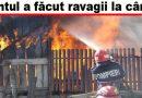 ULTIMA ORĂ! Patru gospodării cuprinse de flăcări la Brădeanu