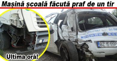 Accident pe șoseaua Buzău – Spătaru. Iată cum s-a întâmplat. Vezi galeria foto