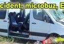 Tamponare microbuz – auto. Doi șoferi și un pasager au ajuns la spital.