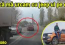 "Accident evitat ""la mustață"". Vezi VIDEO de pe camera din jeep"